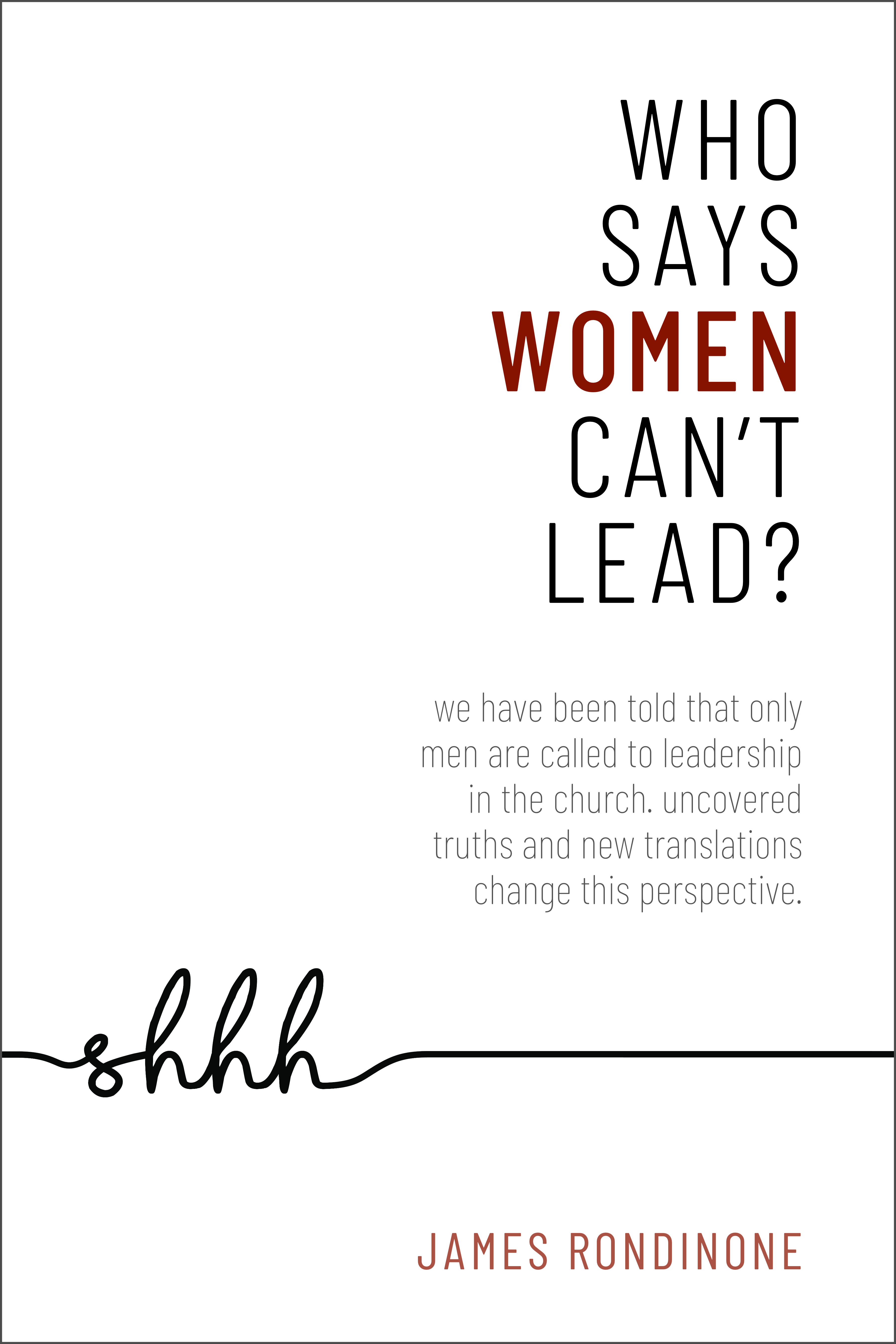 Who Says, Women Can't Lead? FRONT COVER